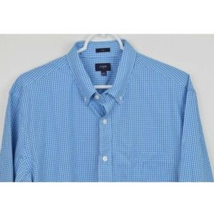 J CREW Large Slim Plaid Shirt Button Down